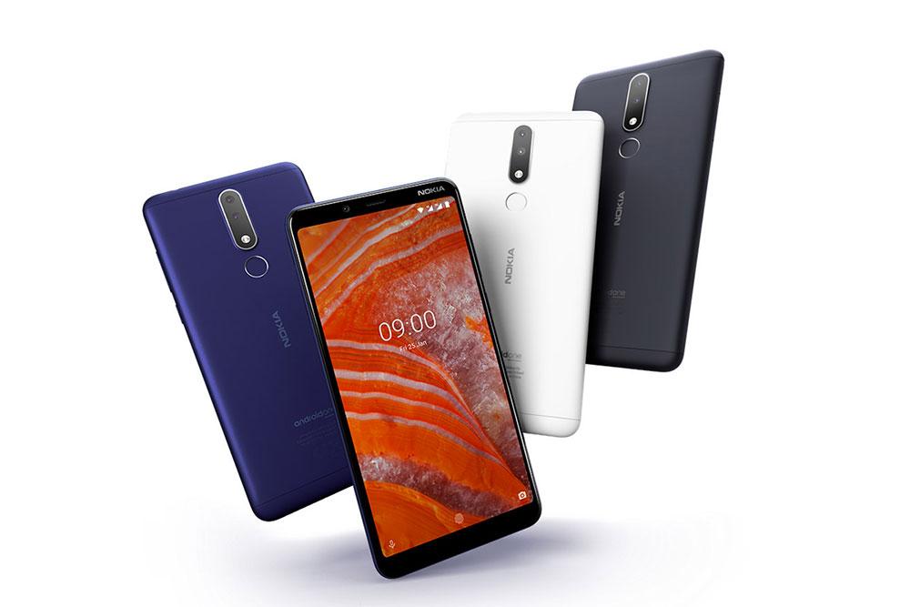 Смартфоны Nokia 3.1 Plus разных цветов