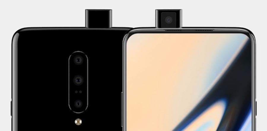 Рендер фронтальной камеры OnePlus 7