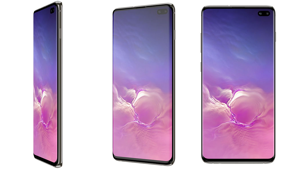 Дизайн лицевой части Samsung Galaxy S10 Plus