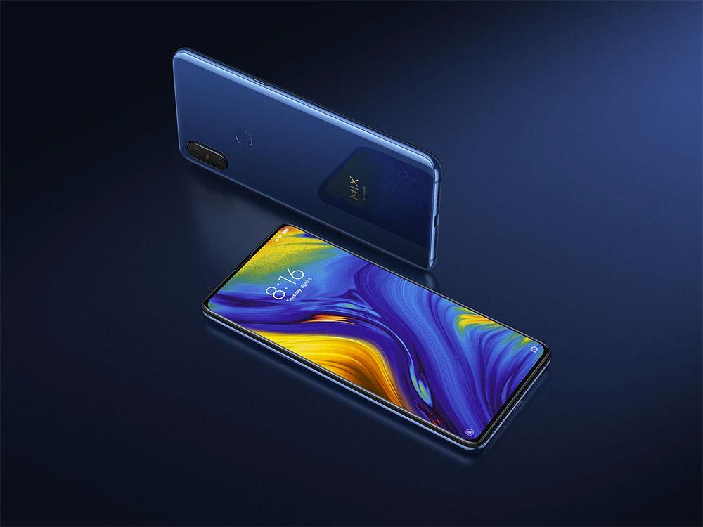 Xiaomi Mi Mix 3 в синем цвете
