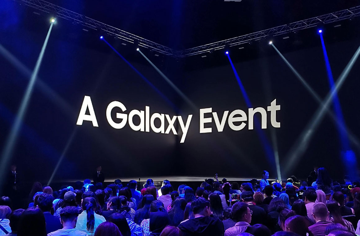 Сцена на Samsung A Galaxy Event в Тайланде
