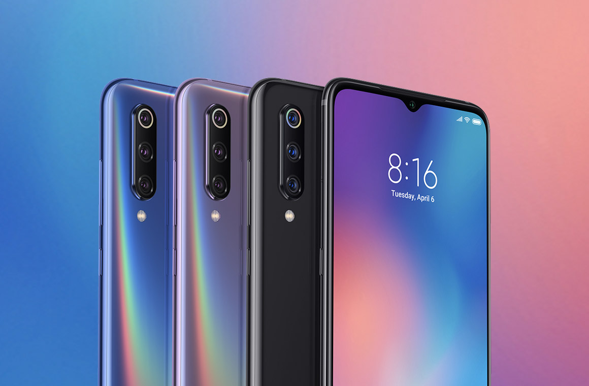 Xiaomi Mi 9 в разных цветах