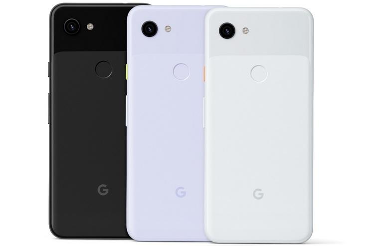 Google Pixel 3a цвета