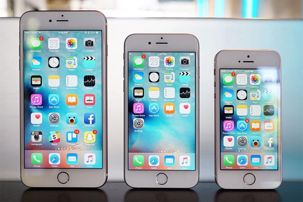 iPhone SE, iPhone 6 и 6 Plus