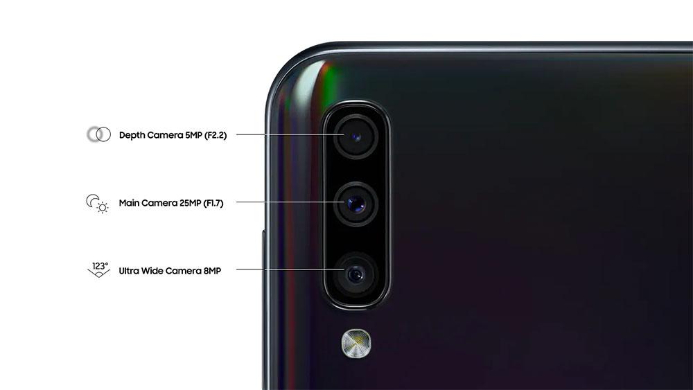Тройной модуль камеры Samsung Galaxy A50
