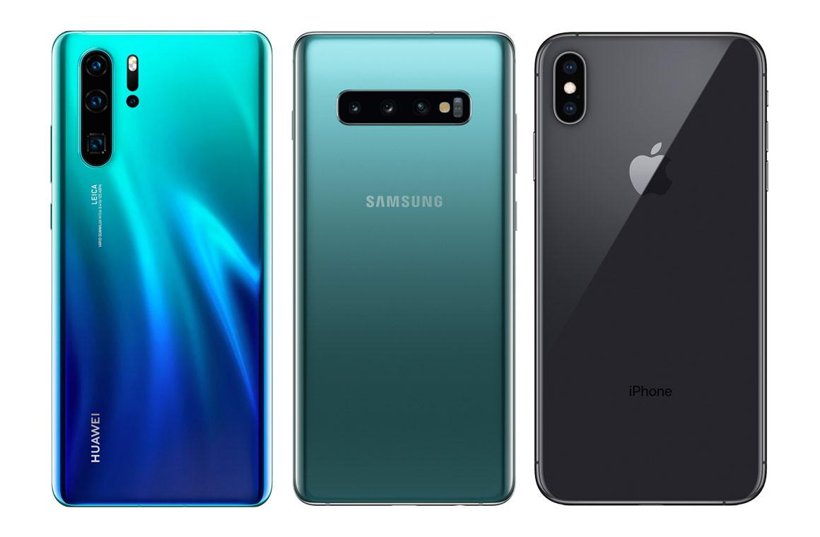 Смартфоны от Huawei, Samsung и Apple