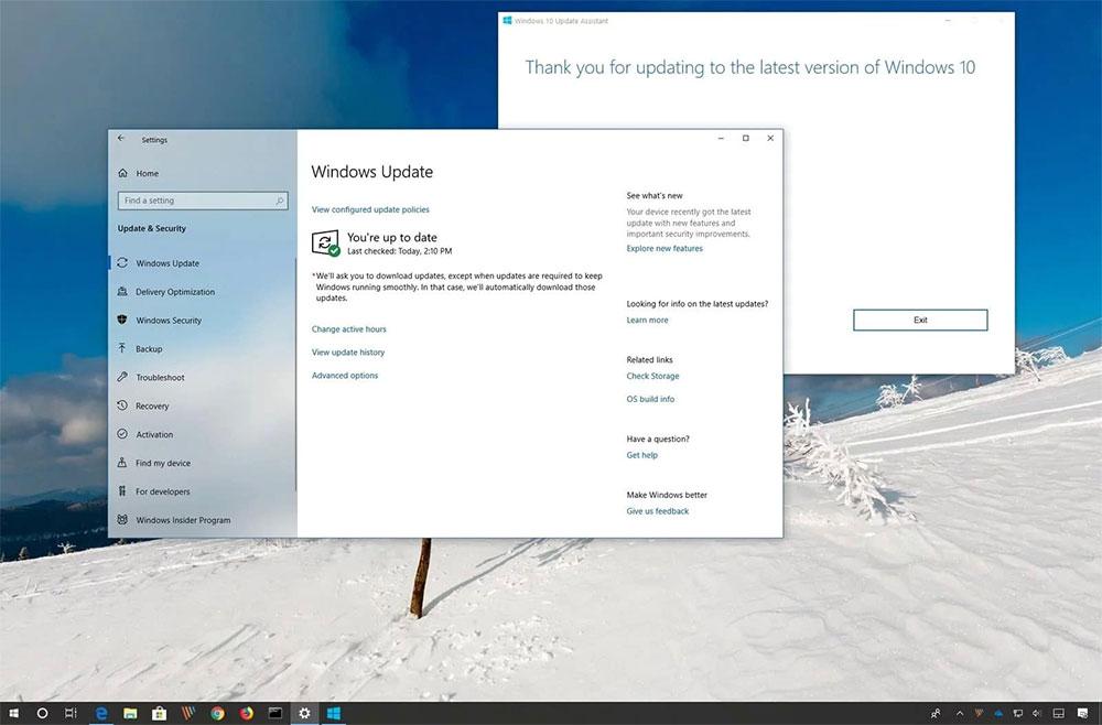 Windows 10 May 2019 Update установка