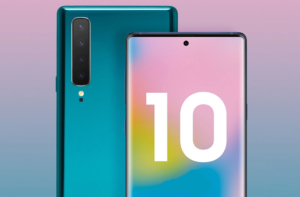 Samsung Galaxy Note 10 рендер