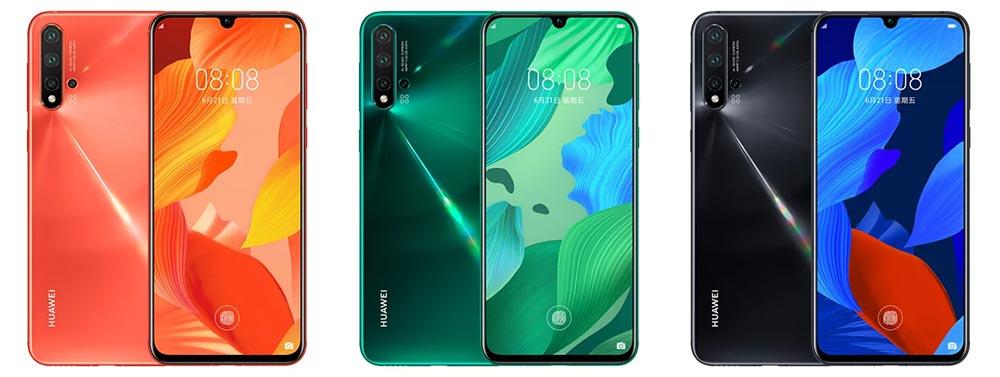 Цвета Huawei Nova 5