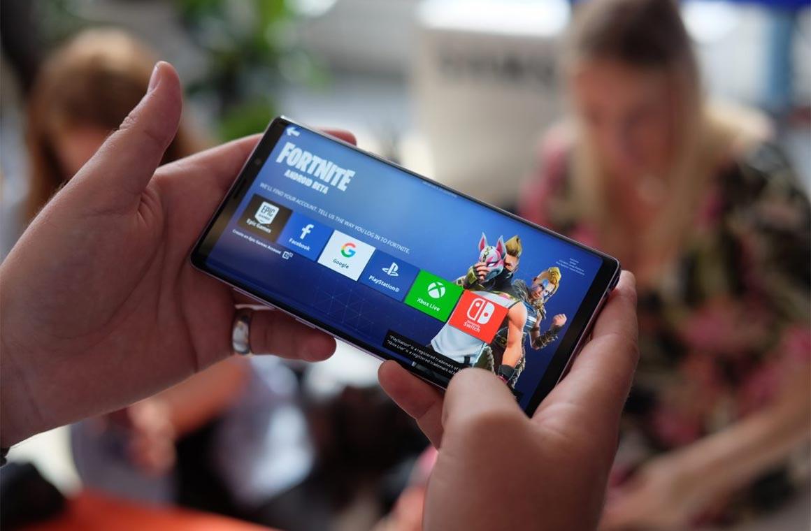 Fortnite на Samsung Galaxy Note 9