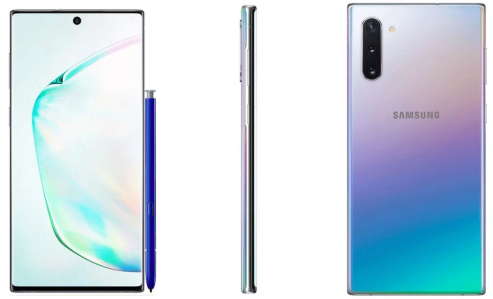 Samsung Galaxy Note 10 серебристый