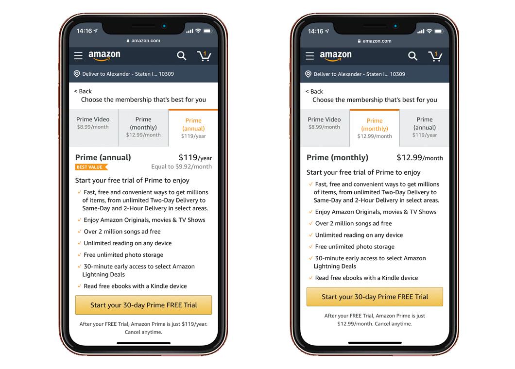Цена Amazon Prime