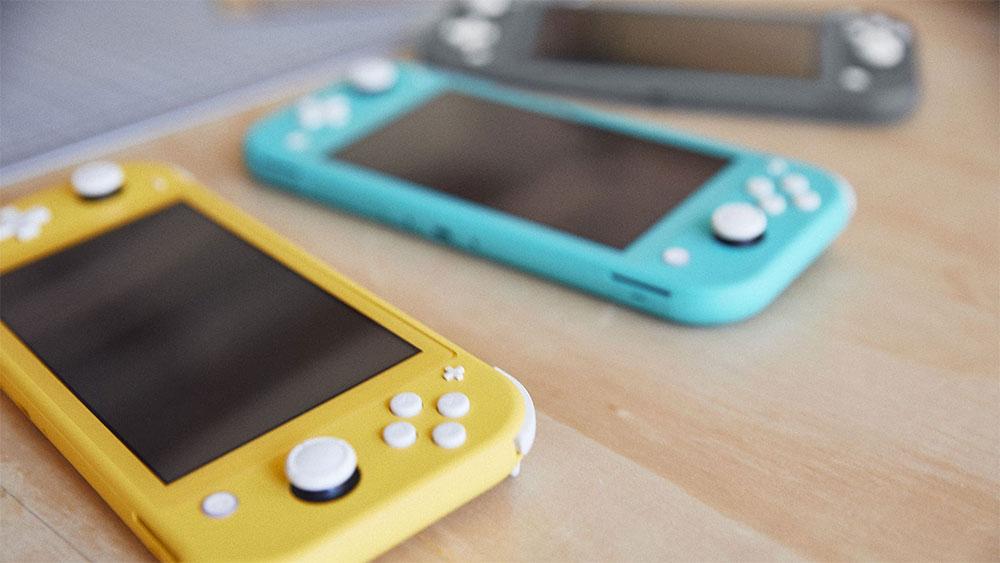Nintendo Switch Lite в нескольких цветах