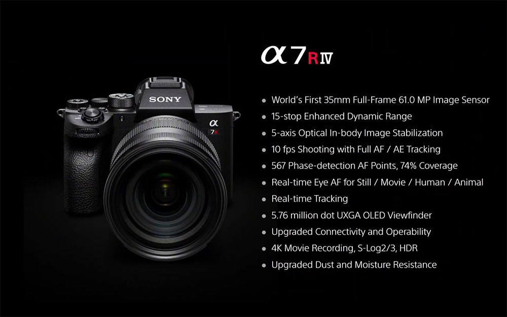 Sony A7R IV specs