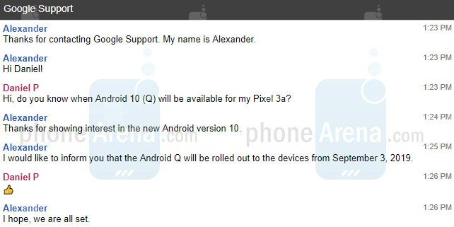 Дата релиза Android 10 Q