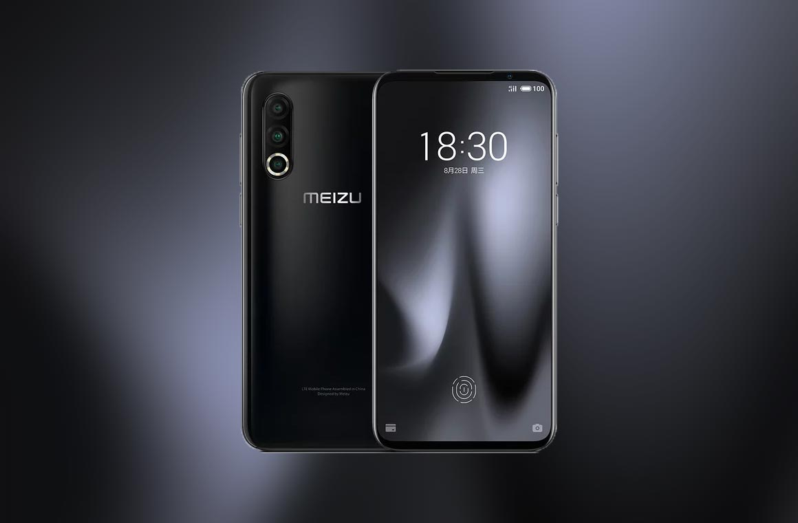 Meizu 16s Pro в черном цвете