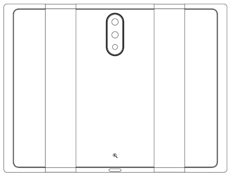 Гибкий смартфон Xiaomi сзади