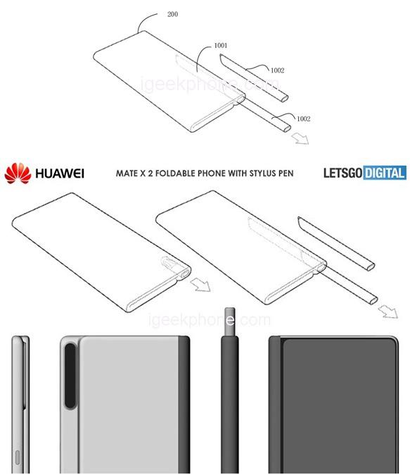 Huawei Mate X 2 renders