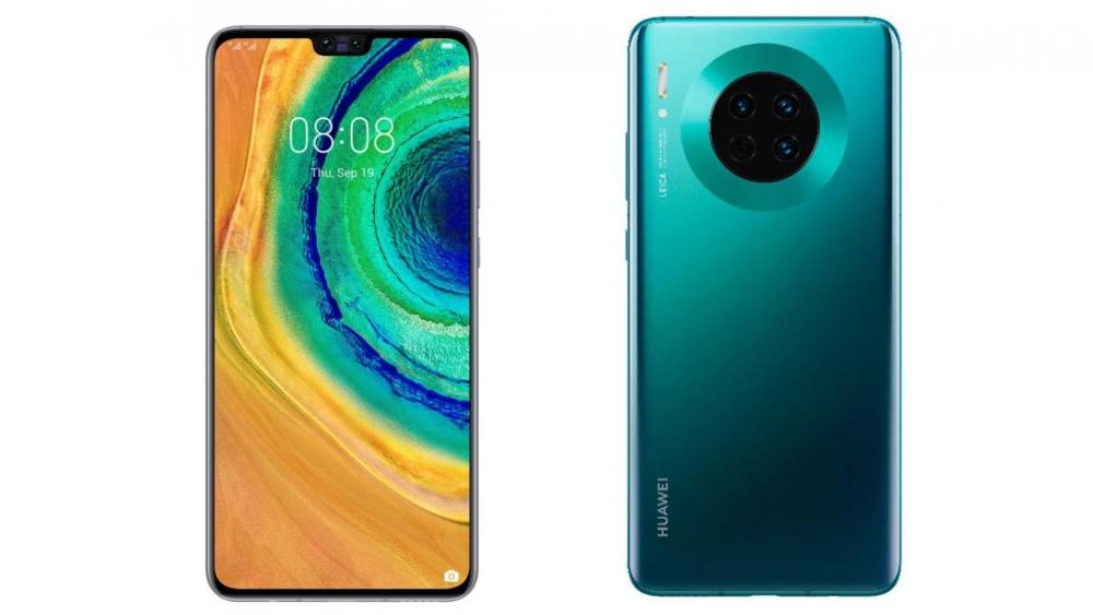 Huawei Mate 30 с двух сторон