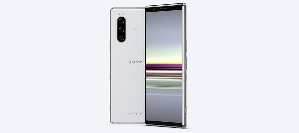 Sony Xperia 5 в белом цвете