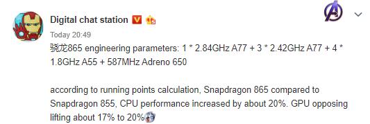 Snapdragon 865 характеристики