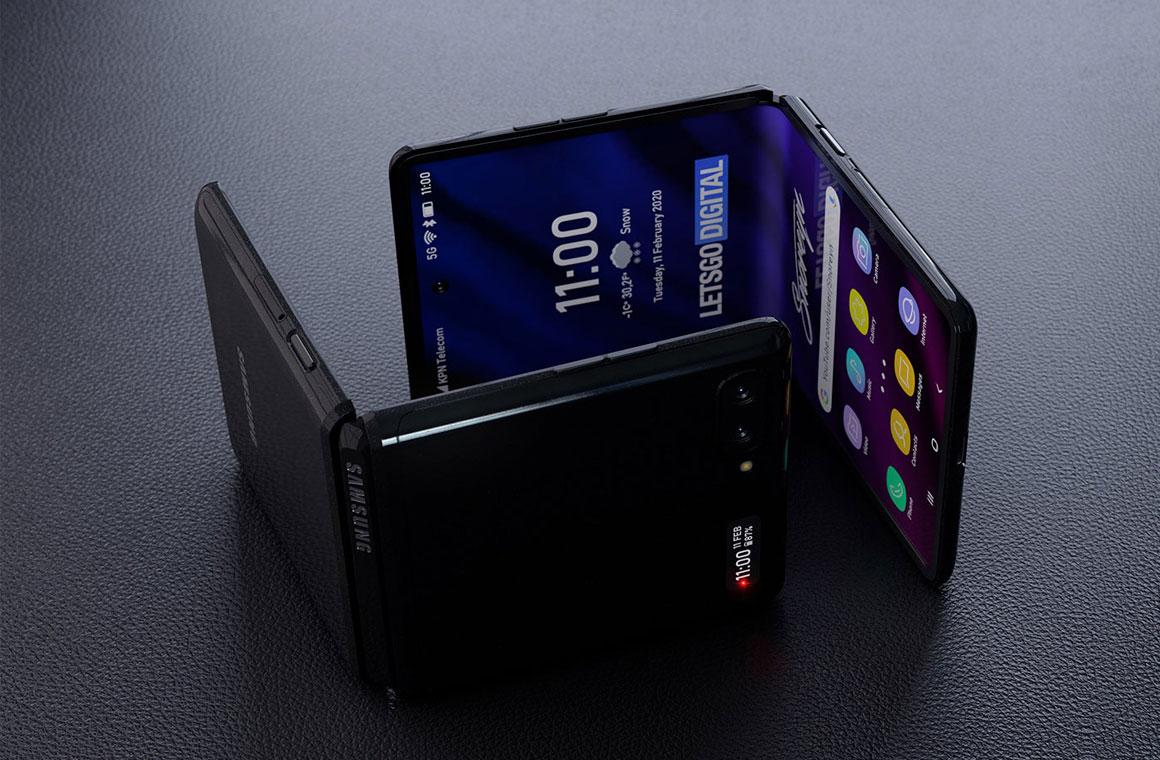 Samsung Galaxy Z Flip рендер