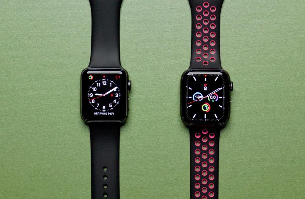 apple watch 5 сравнение с Apple watch 3