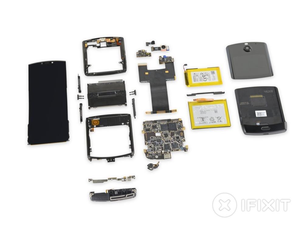 Motorola Razr в разобранном состоянии