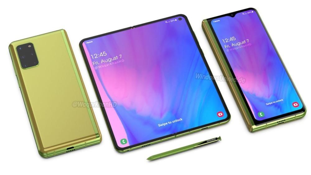 Samsung Galaxy Fold 2 рендеры