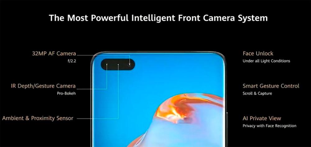 фронтальная камера Huawei P40 Pro