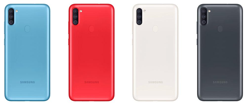 Цветовые решения Samsung Galaxy A11