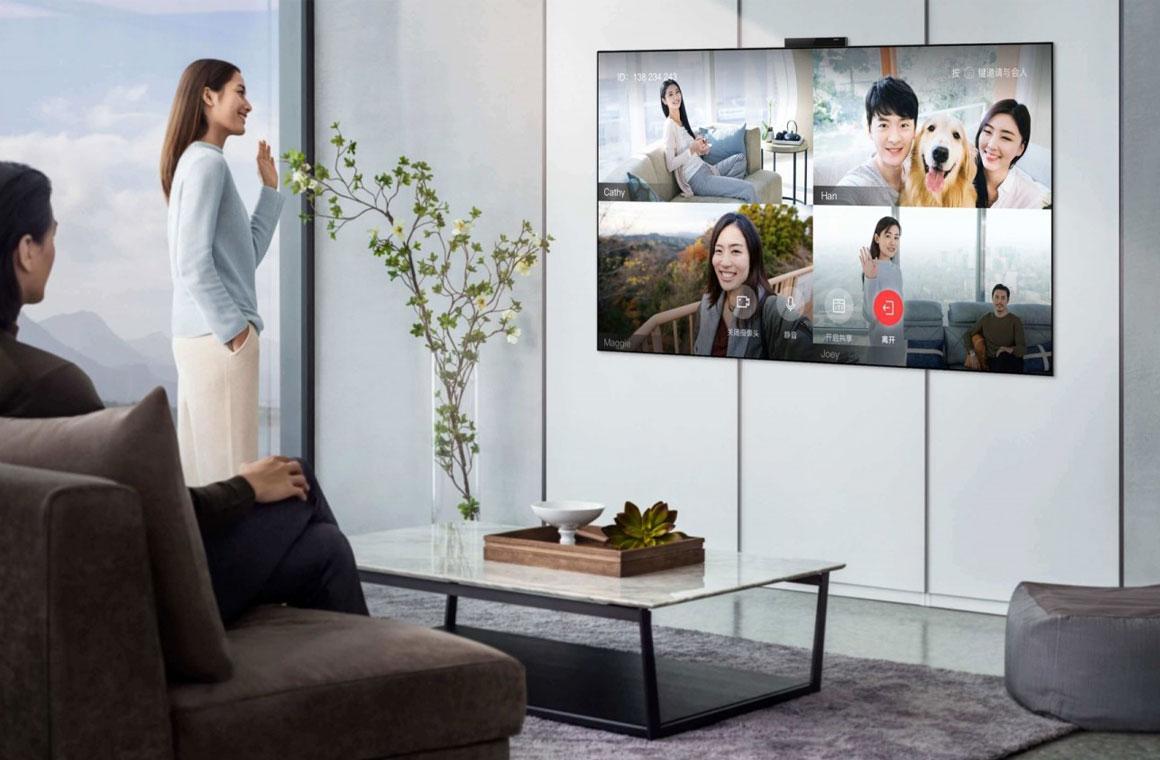 Huawei Vision Smart TV X65 на стене