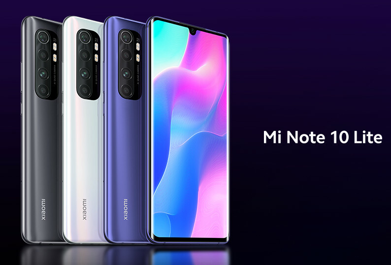 Xiaomi Mi Note 10 Lite цвета