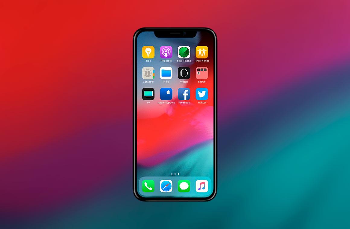 Главный экран iPhone X