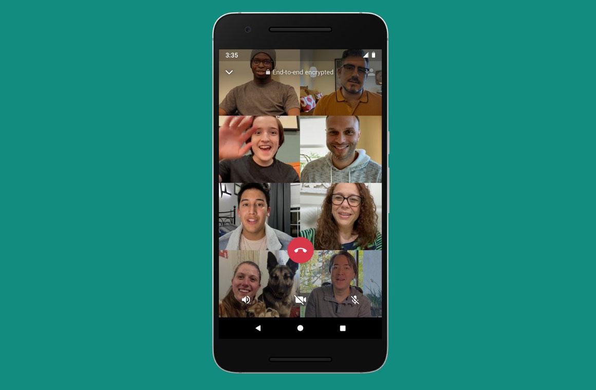 групповой видеозвонок в whatsapp
