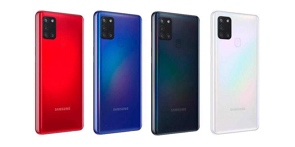 Цвета Samsung Galaxy A21s