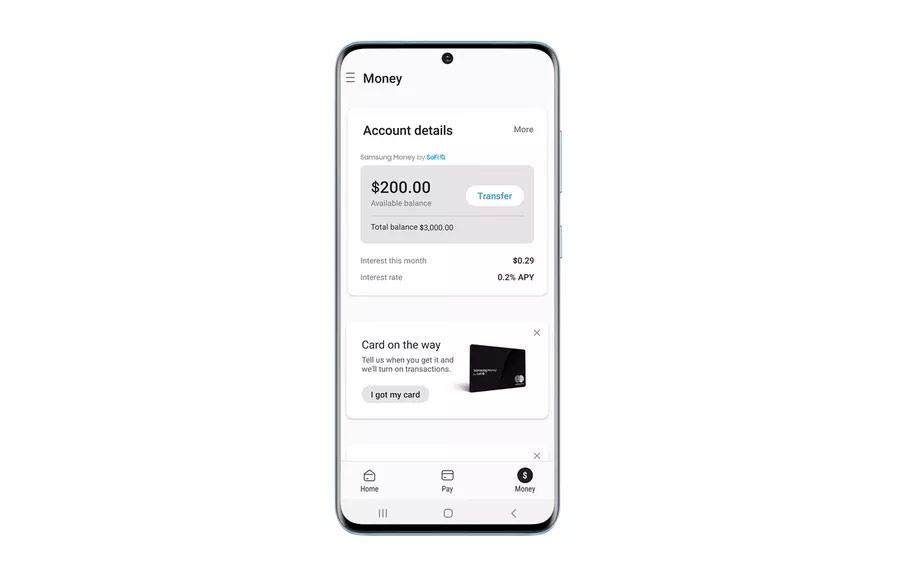Приложение Samsung Money