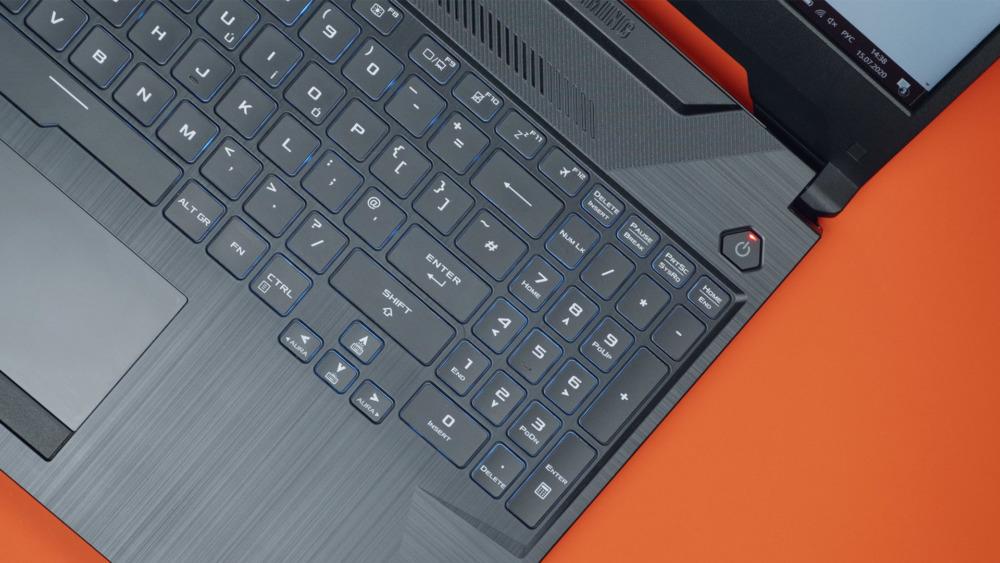 Asus TUF Gaming A15 клавиатура