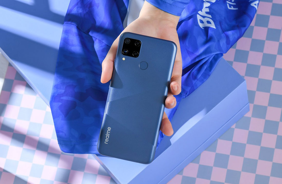 Realme C15 синий