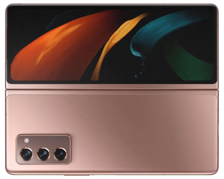 Samsung Galaxy Z Fold 2 бронзовый