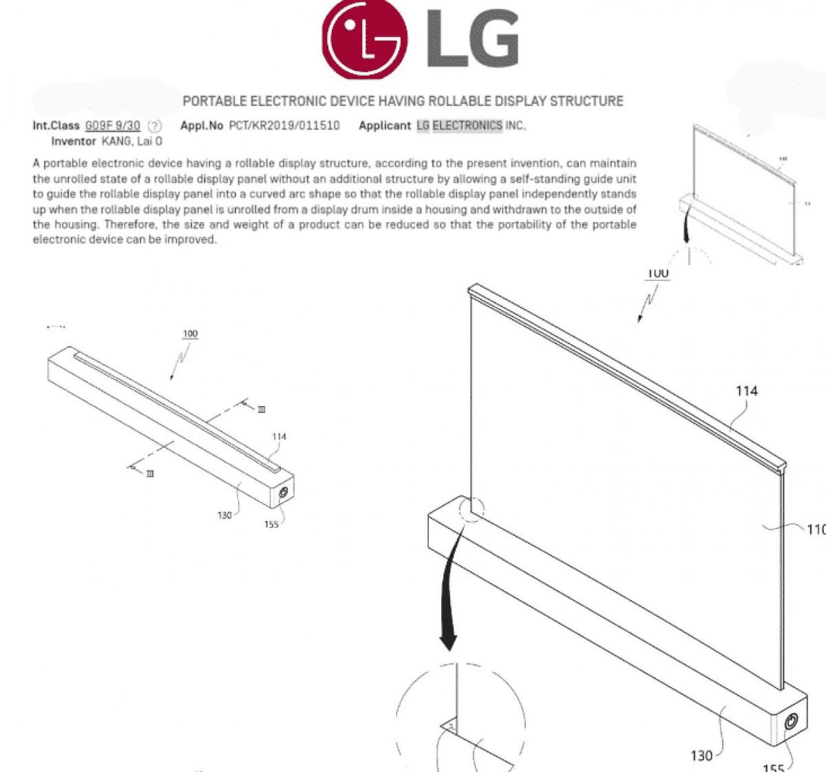 LG патент ноутбука с гибким дисплеем