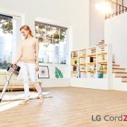 LG CordZero A9 - беспроводной вертикальный пылесос с двумя аккумуляторами