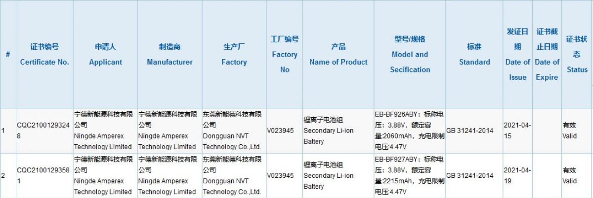 Samsung Galaxy Z Fold3 сертификация
